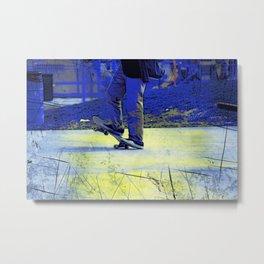 Skateboarder Stance Metal Print