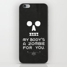 Zombie Love iPhone & iPod Skin