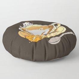 Latte Cat Floor Pillow