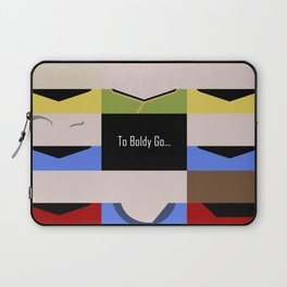 To Boldy Go - Star Trek The Original Series TOS - startrek Trektangle Kirk Spock Bones Minimalist Laptop Sleeve