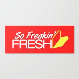 So Freakin' Fresh v1 HQvector Canvas Print