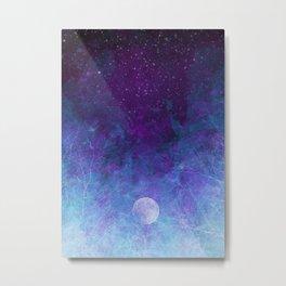 Violet Galaxy: Lunar Eclipse Metal Print