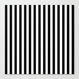 Stripe Black & White Vertical Canvas Print