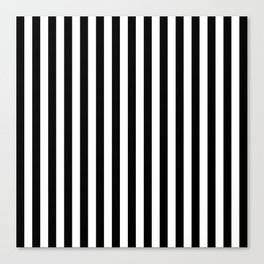 Stripe Black And White Vertical Line Bold Minimalism Stripes Lines Canvas Print