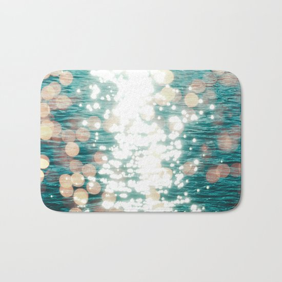 Sun glitter - golden light Bath Mat