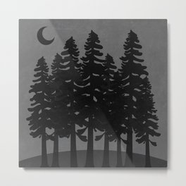 The Moon Over A Dark Dark Forest Metal Print