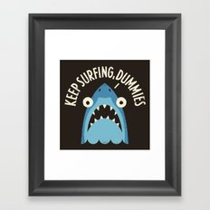Great White Snark Framed Art Print