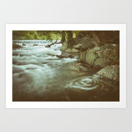 Water Swirl in the River Rustic Nature / Landscape Photograph Art Print