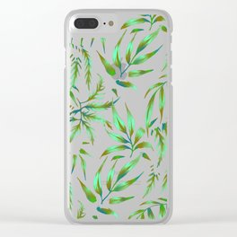 Brooklyn Forest - Green Clear iPhone Case