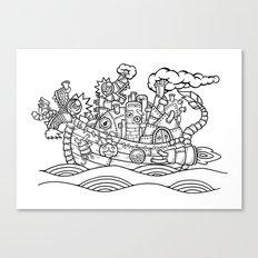 dragon ship Canvas Print