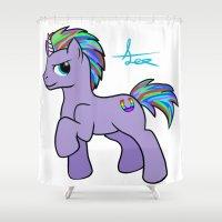 mlp Shower Curtains featuring MLP OC by AlexavierTaiga