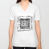 frame V-neck T-shirts featuring Life Frame by ArteGo