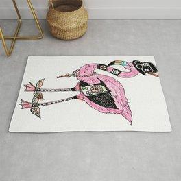 Steampunk Flamingo Rug