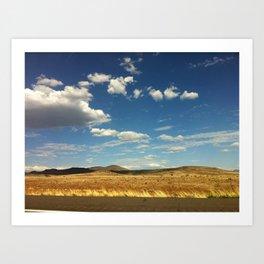 Desert Drive Art Print