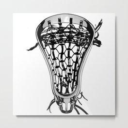 Lacrosse Nuff Said Metal Print