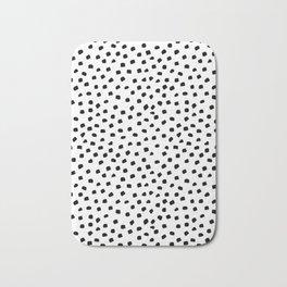 Dalmatian Dots Black White Spots Bath Mat
