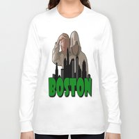 boston Long Sleeve T-shirts featuring BOSTON  by Robleedesigns