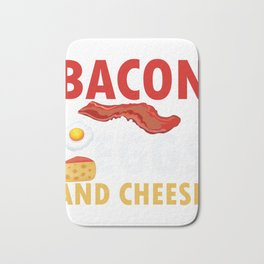Bacon Egg and Cheese Design For Keto Diet  Graphic Bath Mat
