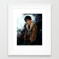 nico di angelo Framed Art Prints featuring Nico di Angelo by Monsie