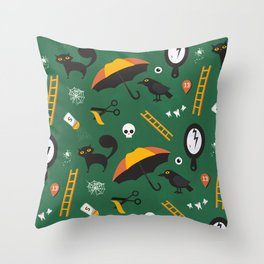 The Usual Suspects (Patterns Please) Throw Pillow