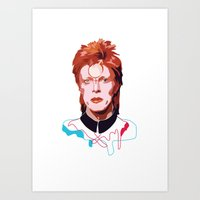 david bowie Art Prints featuring Bowie by Anna McKay