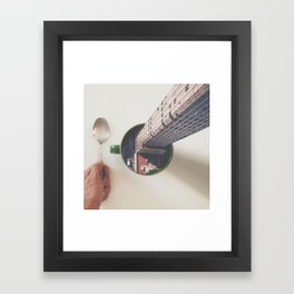 Evening breakfast with Supertramp Framed Art Print
