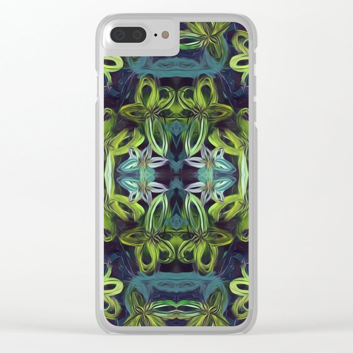 Tropical Greenery Clear iPhone Case