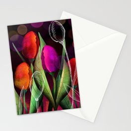 Vibrant Tulips Stationery Cards