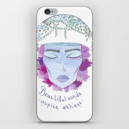 beautiful mind iPhone Skin