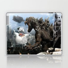 Godzilla versus The Staypuft Marshmallow Man Laptop & iPad Skin