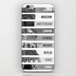 The Europeans Capitals  iPhone Skin