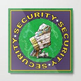 Blanket & Bear Security Metal Print