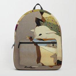 Visit Sardinia vintage Italian travel ad Backpack
