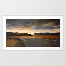 notte a Capo Nord Art Print