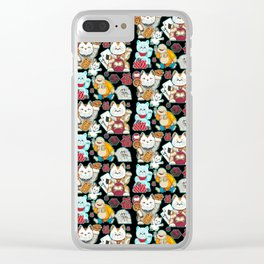 Super Lucky Pattern in Black Clear iPhone Case
