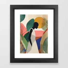 Tropical Girl Framed Art Print