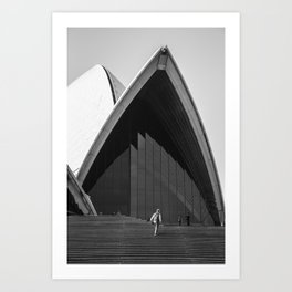 Opera House Steps Art Print