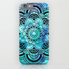 Galaxy Mandala Aqua Indigo iPhone Case