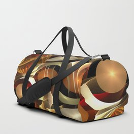 Abstract Red and Gold Duffle Bag