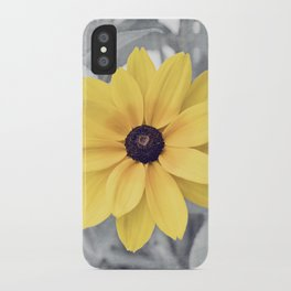 Yellow Grey Flower Photography, Yellow Gray Nature Floral Photography iPhone Case
