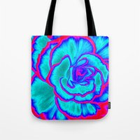 neon Tote Bags featuring Neon by Dawn East Sider