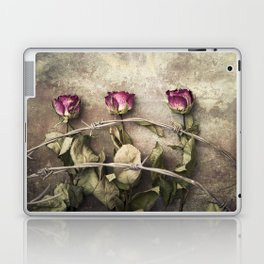 Three dried roses and barbed wire Laptop & iPad Skin