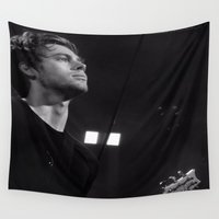 luke hemmings Wall Tapestries featuring L HEMMINGS CLEVELAND by Halle