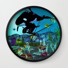 Exploration 3D Aquarium ORCA Wall Clock