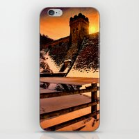 dark tower iPhone & iPod Skins featuring The Dark Tower by Deltic Digital Imaging