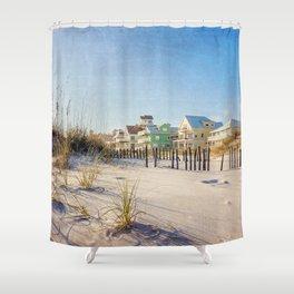 Colorful Beach Houses Shower Curtain