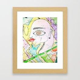 Face In Colors Framed Art Print