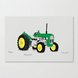 Vintage Tractor Green Canvas Print