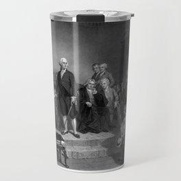 Washington Delivering His Inaugural Address Travel Mug