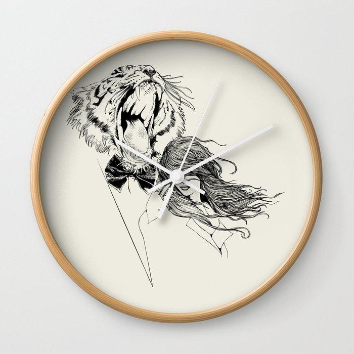 The Tiger's Roar Wall Clock